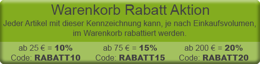 Warenkorb Rabatt Aktion