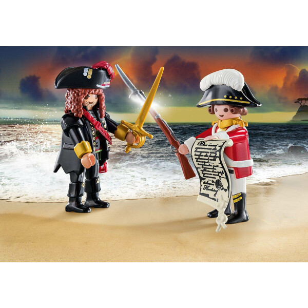 PLAYMOBIL 70273 - Duopacks - Piratenkapitän und Rotrock