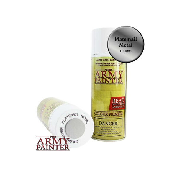 Army Painter - Primer: Plate Mail Spray (400ml)