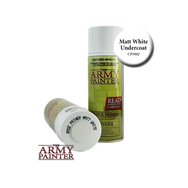 Army Painter - Base Primer Matt White Spray (400ml)
