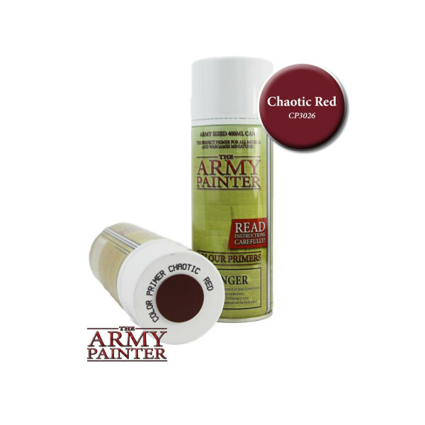 Army Painter - Primer: Chaotic Red Spray (400ml)