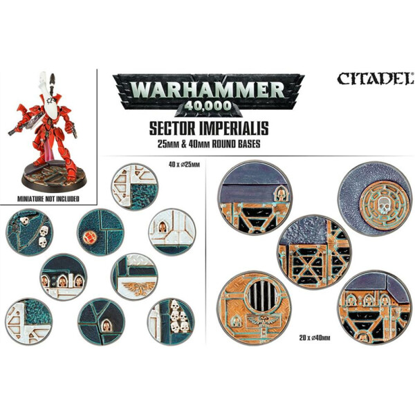 Sector Imperialis: 25mm / 40mm Round Bases