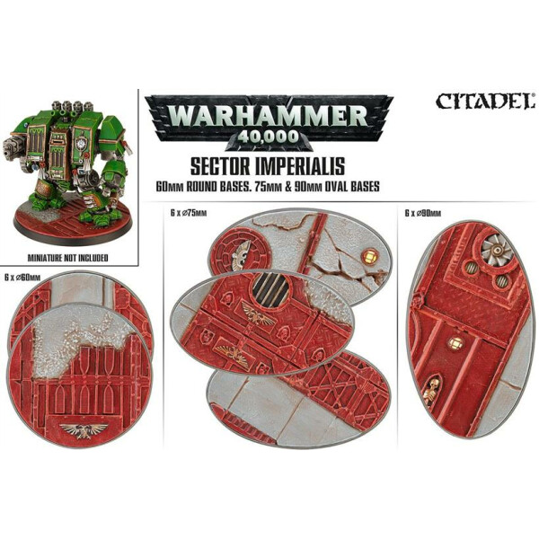 Sector Imperialis: 60mm Round & 75mm / 90mm Oval Bases